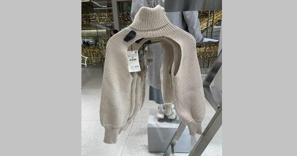 11 pull.jpg?resize=412,232 - Mode: Zara dévoile un pull dont la fonction est incompréhensible