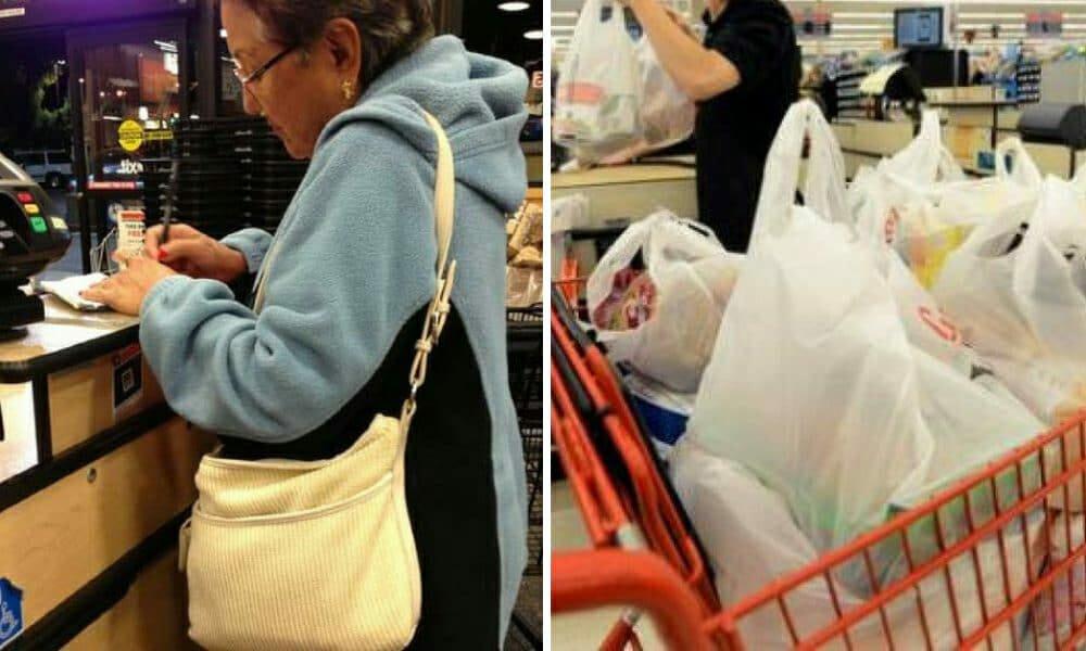 mocking cashier
