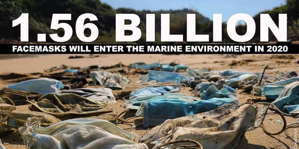More than 1.5 billion face masks believed to have flooded the oceans in 2020 | Totally Vegan Buzz