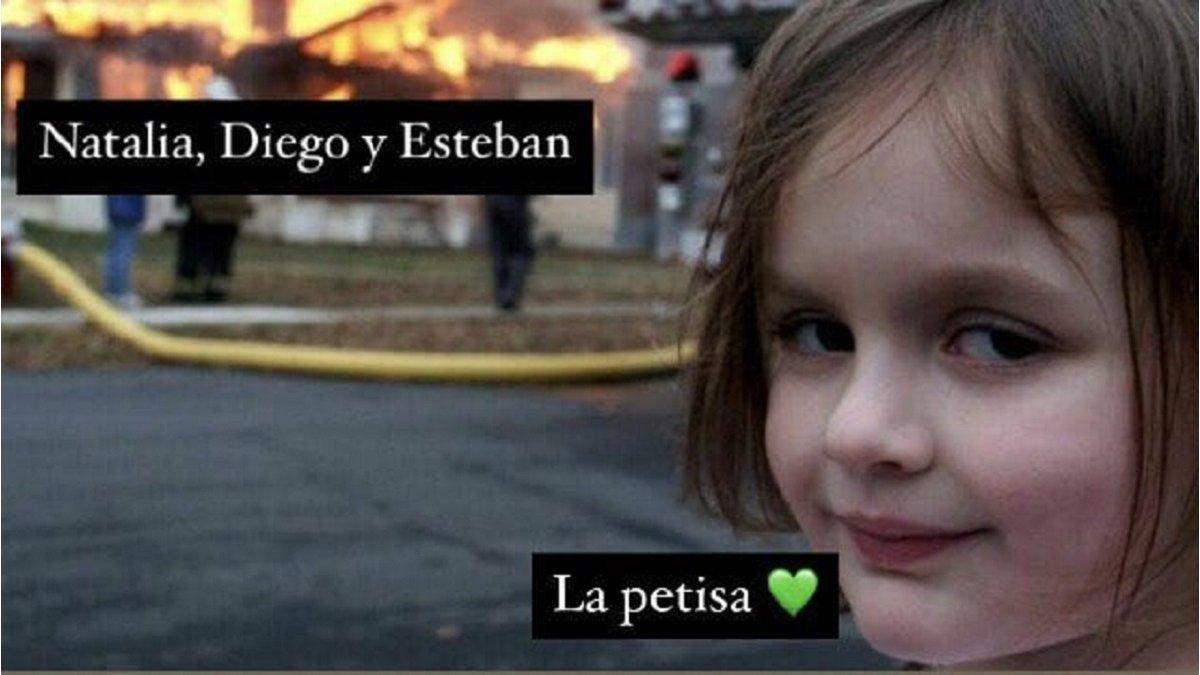 ⚡Título de Minuto Uno: Los mejores memes de la historia de la petisa ,  Natalia, Diego y Esteban