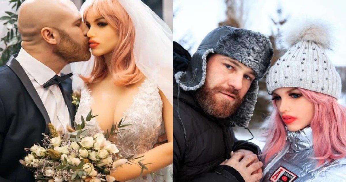 8 yuri tolochko.jpg?resize=412,232 - Insolite: Yuri Tolochko a enfin épousé Margo, sa poupée gonflable