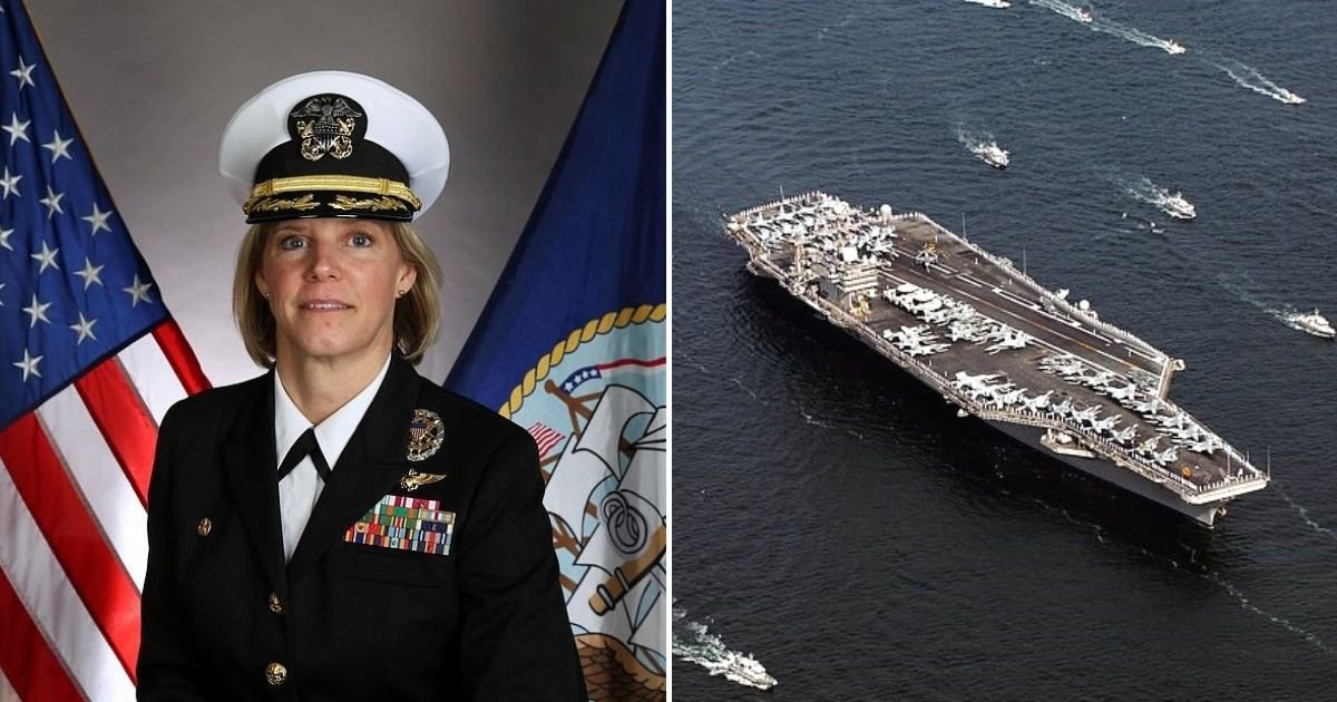 amy6.jpg?resize=1200,630 - Female Pilot To Become The First Woman To Command US Nuclear-Powered Aircraft Carrier