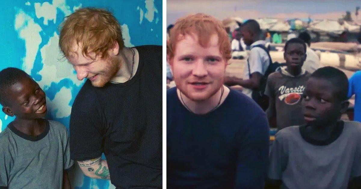 articulosportadas 1 15.png?resize=1200,630 - El Cantante Ed Sheeran Salvó A Un Niño Africano De La Calle De Los Constantes Abusos Que Sufría
