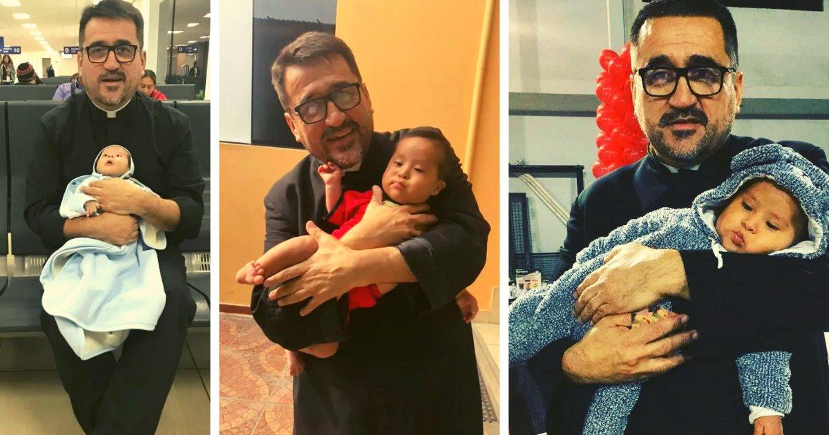 articulosportadas 34.png?resize=1200,630 - Sacerdote Adoptó A Un Bebé Con Síndrome De Down Porque Su Madre Lo Rechazó Tras Dar A Luz