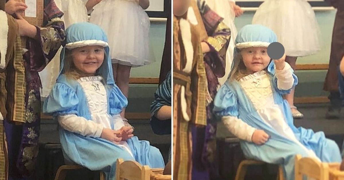 daisy6.jpg?resize=1200,630 - 4-Year-Old Girl Flips The Bird While Playing Mother Mary During School Nativity Play