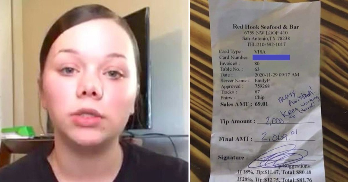 e18486e185aee1848ce185a6 18.jpg?resize=412,275 - Restaurant Refuses To Pay Waitress $2000 Tip Left For Her By 'Generous' Customer
