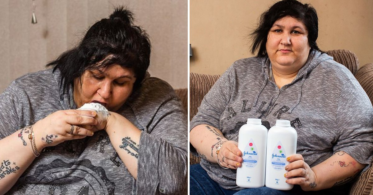 erererg.jpg?resize=412,232 - Mum Reveals How Her 'Baby Powder' Eating Addiction Is Costing Her A Fortune