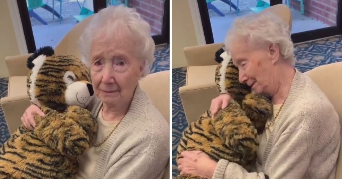 freda4.jpg?resize=1200,630 - Video Of Nursing Home Resident Cuddling A Toy Given By A Carer As A Christmas Present Left Viewers In Tears