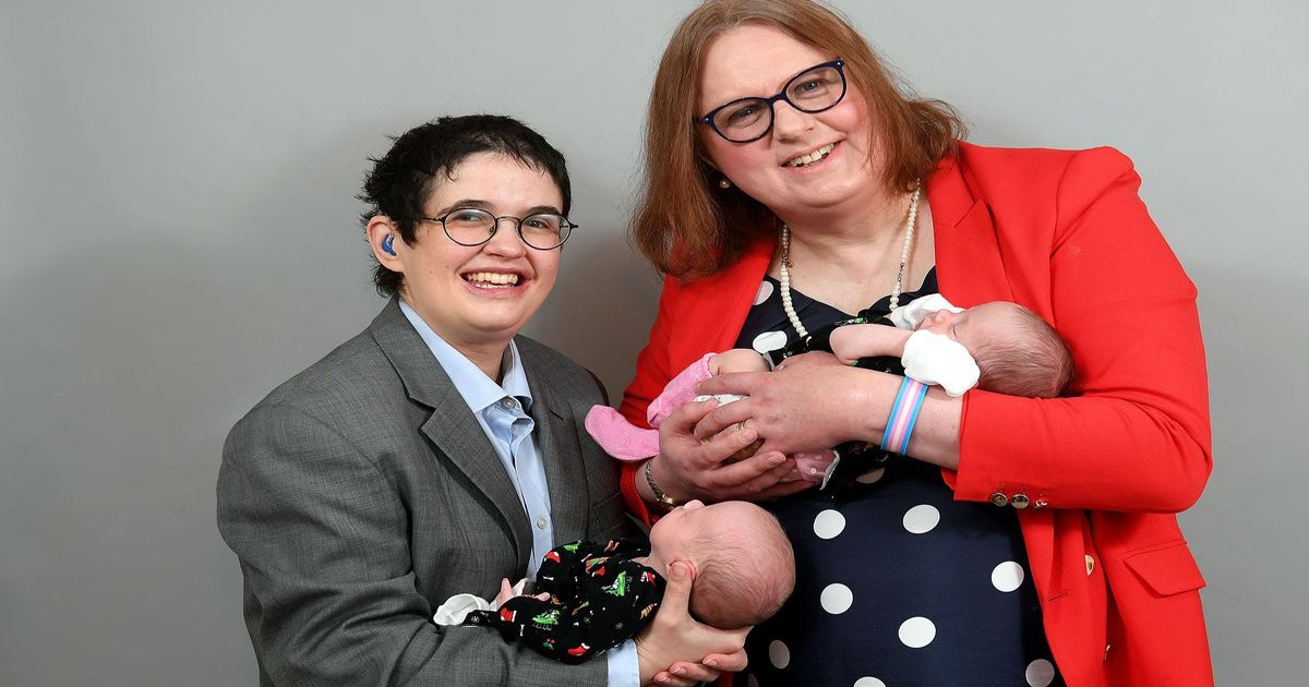 gagga.jpg?resize=412,232 - British 'Trans Couple' Become First To Have Twins As Dying Friend Leaves IVF Gift