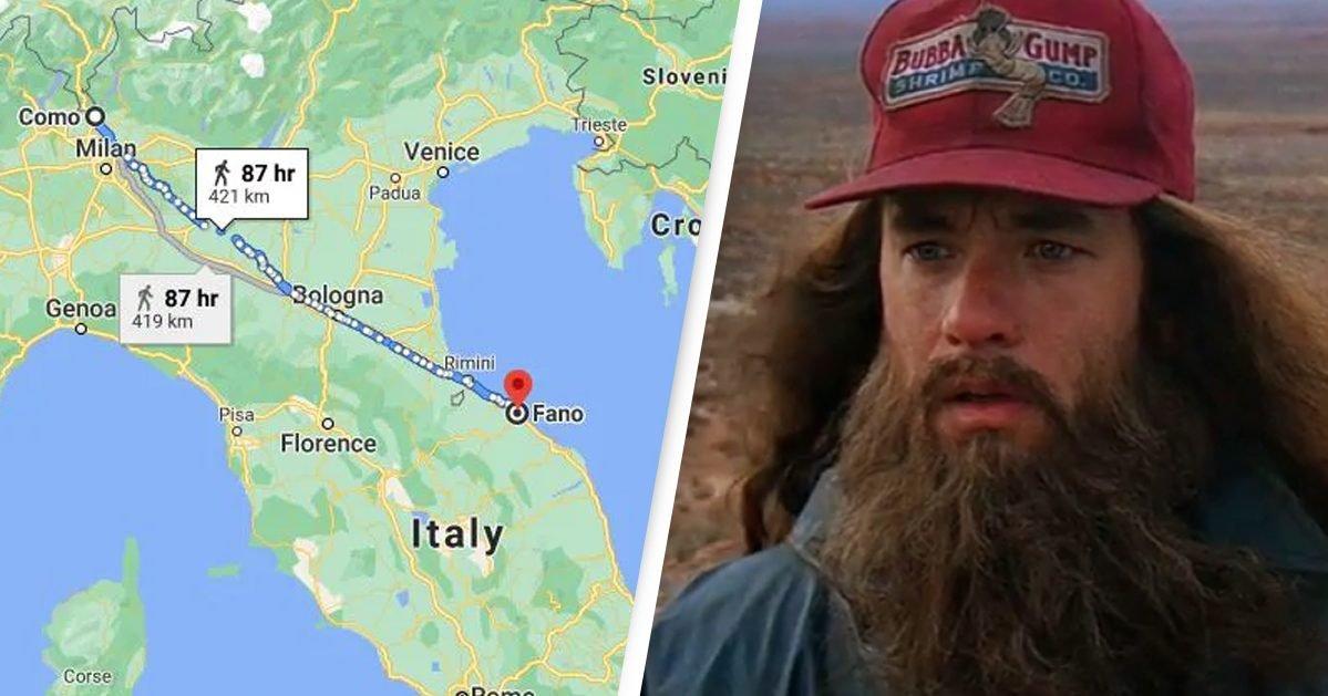 google maps paramount e1607530247851.jpg?resize=412,232 - Italie : un homme a marché 450 km après une dispute avec sa femme