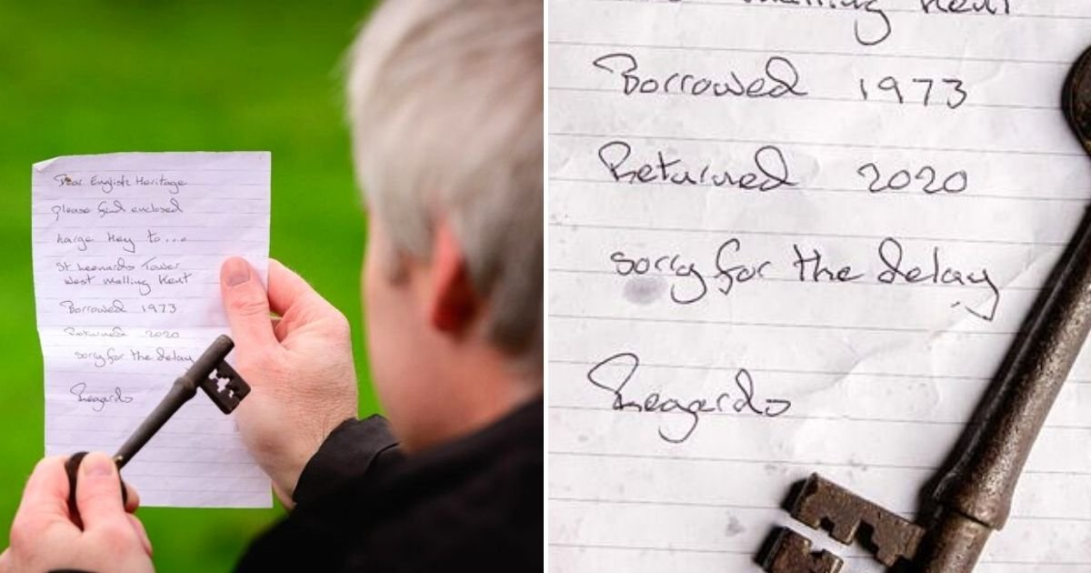 key6.jpg?resize=1200,630 - 'Sorry For The Delay' – Key Missing For 50 Years Returned With An Apology Letter