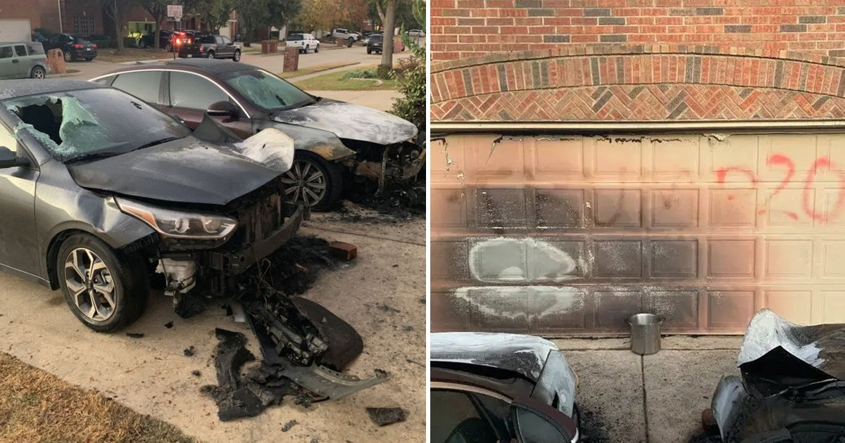 rewrwerwr.jpg?resize=412,232 - Texas Family Says Car Set On Fire, House Spray-painted In Response To Their BLM Yard Sign