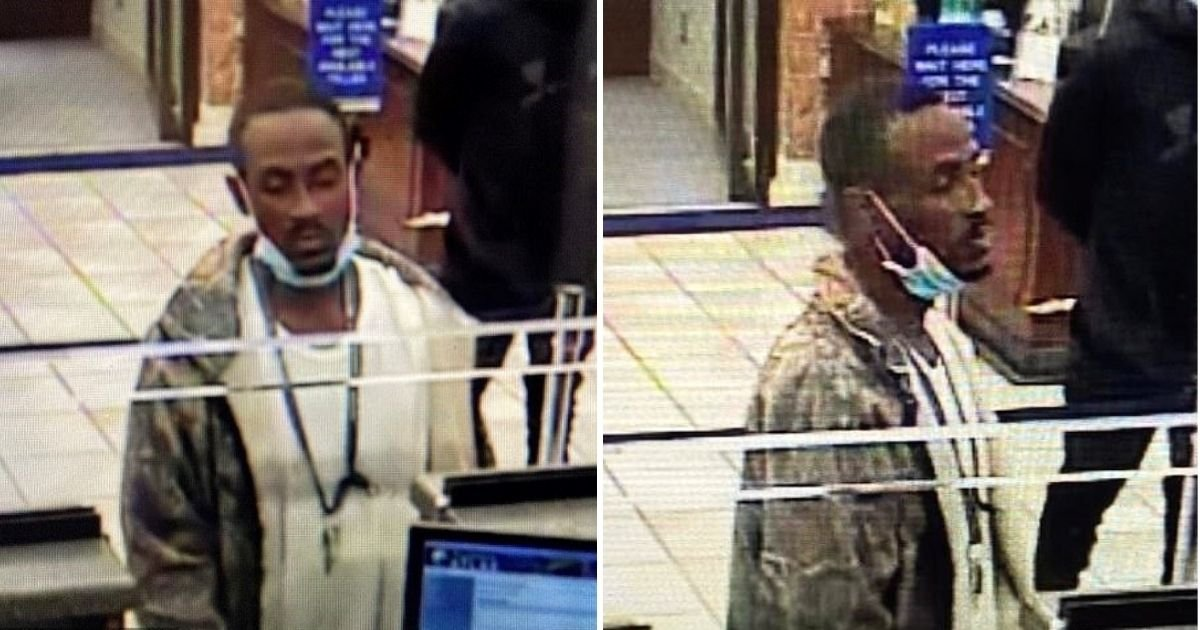 robber4.jpg?resize=1200,630 - Man Busted After He Pulled His Face Mask Down During A Bank Robbery