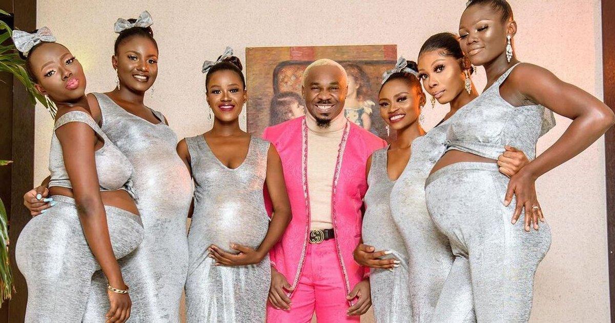 sdg.jpg?resize=1200,630 - Nigerian Playboy Rocks Up Wedding With 6 'Heavily Pregnant' Girlfriends