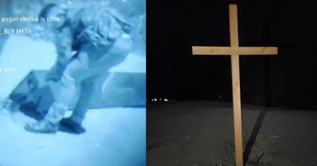 sdgsdgsg.jpg?resize=412,232 - California's Mysterious Monolith Destroyed By Men Chanting 'Christ Is King'