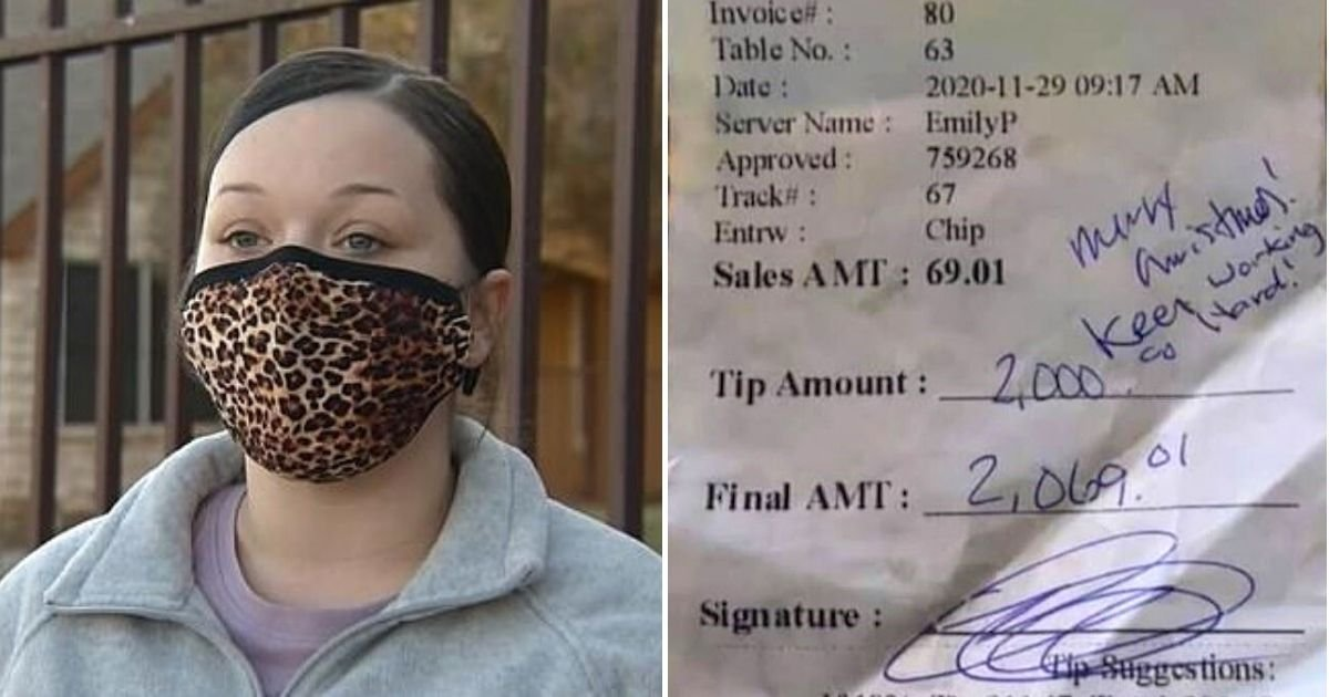 tip6.jpg?resize=1200,630 - Waitress Blasted Restaurant For Refusing To Give $2,000 Tip She Received From A Generous Customer