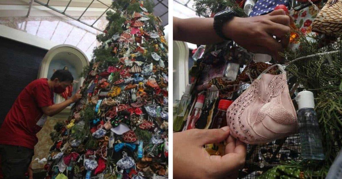 titulo 2020 12 27t002312 325.png?resize=1200,630 - Usan Máscaras Y Desinfectantes Para Decorar Árbol De Navidad Y Crear Conciencia Sobre El COVID-19