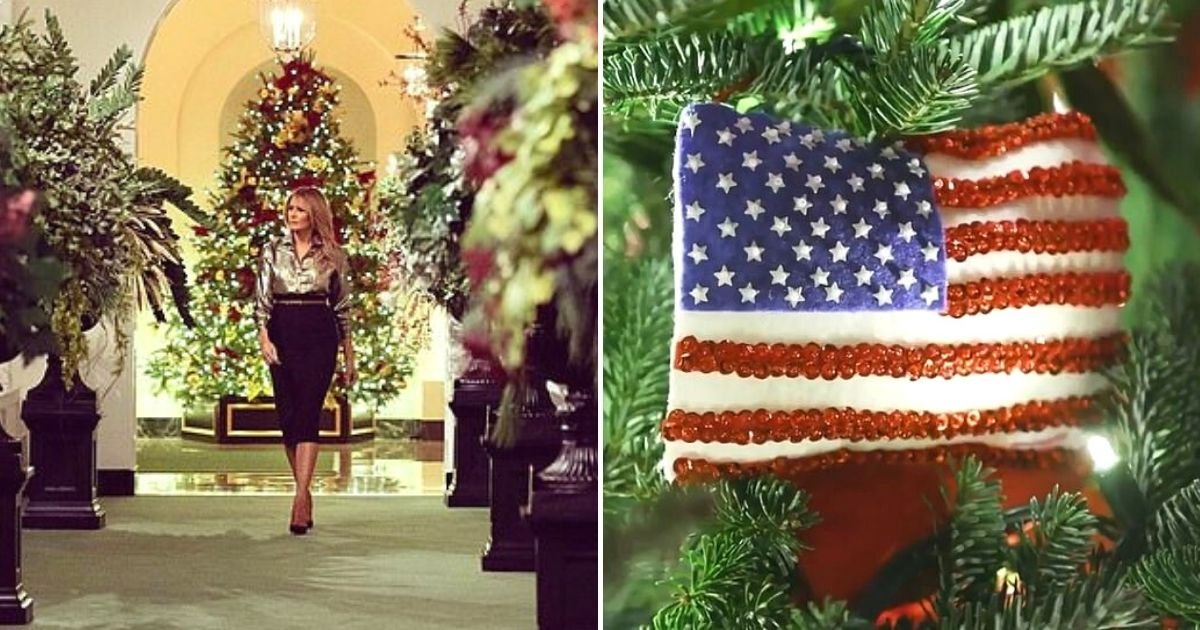trees8.jpg?resize=412,232 - First Lady Melania Trump Unveils 2020 White House Christmas Decorations