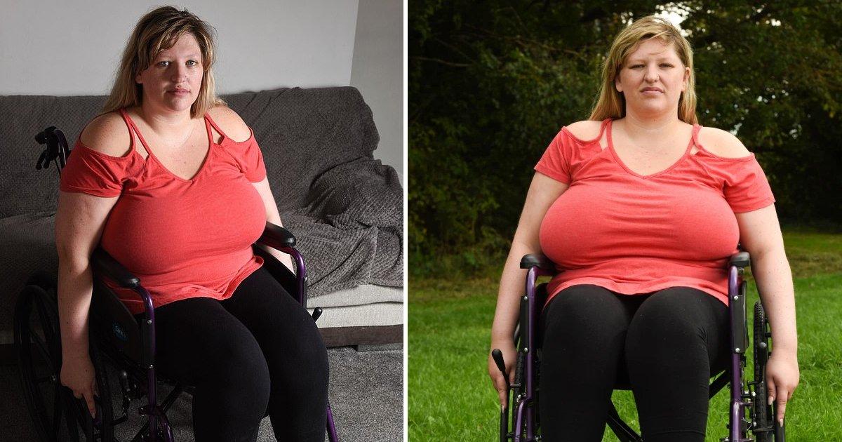 trtrt 1.jpg?resize=1200,630 - Woman's Massive 42I Breasts Left Her Wheelchair Bound