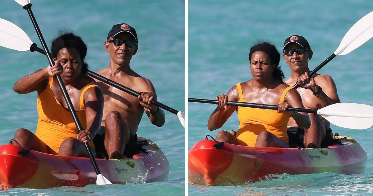 untitled design 1 18.jpg?resize=1200,630 - Michelle And Barack Obama Enjoy Kayaking During Holiday Retreat In Hawaii