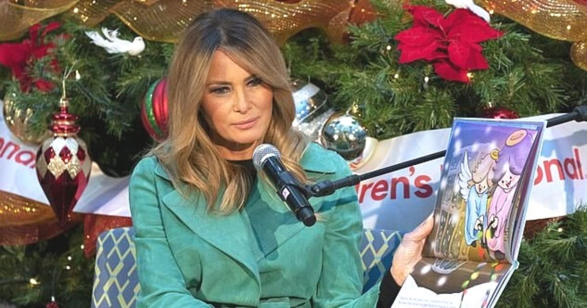 untitled design 19.jpg?resize=1200,630 - Melania Trump Removes Face Mask While Reading To Sick Kids At Children's Hospital