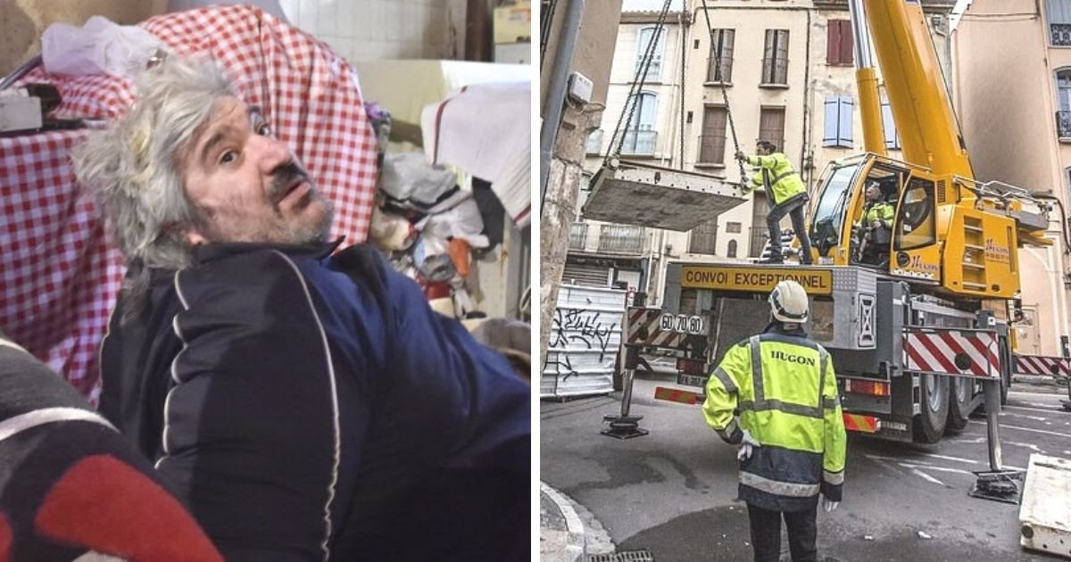 untitled design 5 1.jpg?resize=412,232 - Medics Forced To Use A Crane To Move Obese Man From His House After He Got Trapped Inside