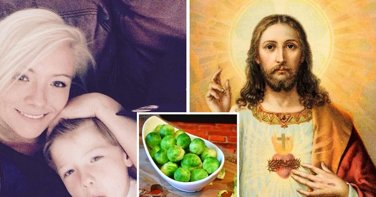untitled design 8 6.jpg?resize=1200,630 - Mother Believes She Spotted The Face Of Jesus On Her Brussels Sprout