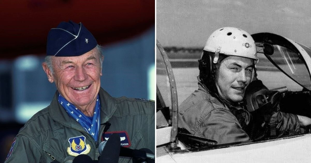 yeager6.jpg?resize=1200,630 - America's Greatest Pilot Chuck Yeager Dies Aged 97, His Wife Has Confirmed