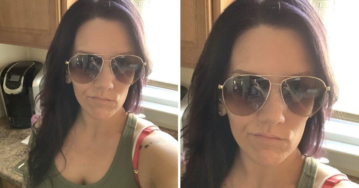 """1 149.jpg?resize=1200,630 - Madre Se Toma Una Selfie Estando Sola En Casa Y Nota """"Dos Figuras"""" En El Reflejo De Sus Gafas De Sol"""