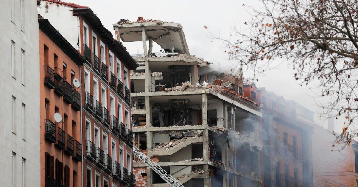 1 madrid.jpg?resize=1200,630 - Madrid: une forte explosion détruit un immeuble et a tuée au moins deux personnes