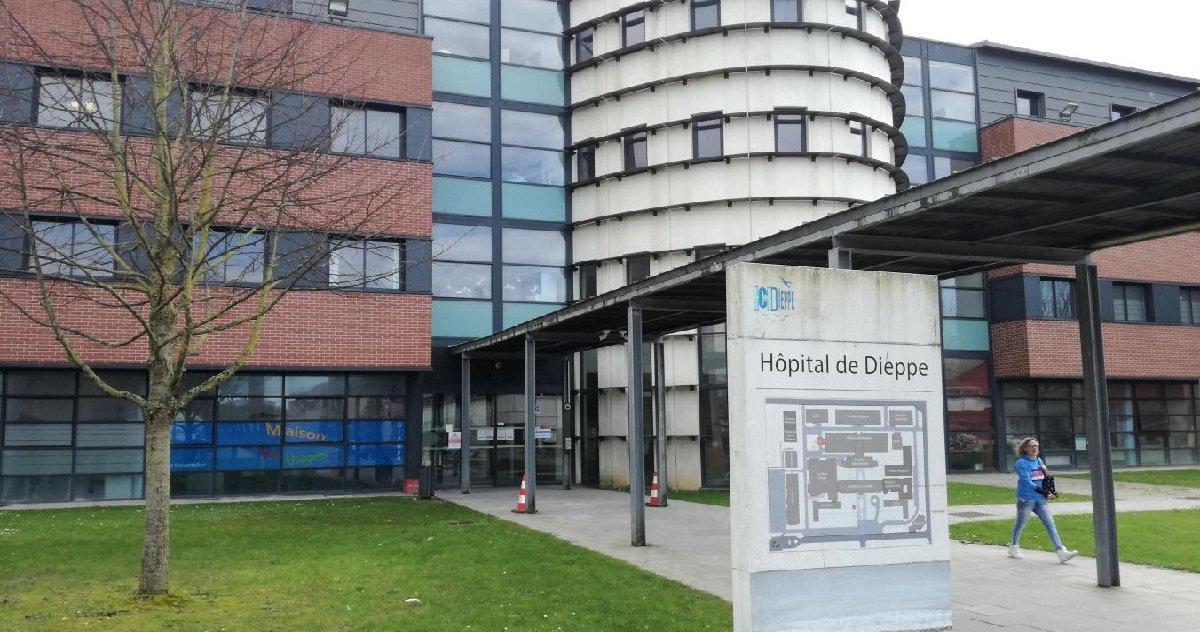 12 dieppe.jpg?resize=412,232 - Dieppe: 141 membres du personnel de l'hôpital ont été testés positifs au coronavirus