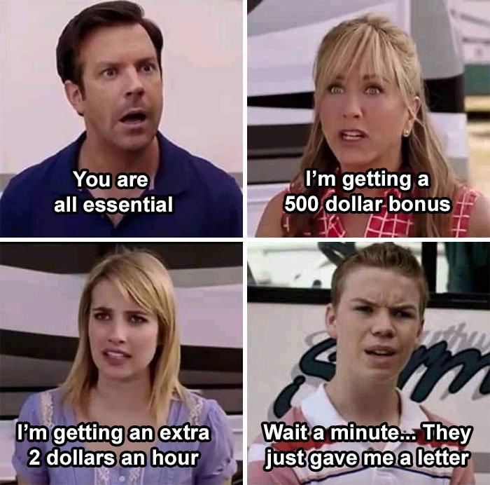 essential employee memes