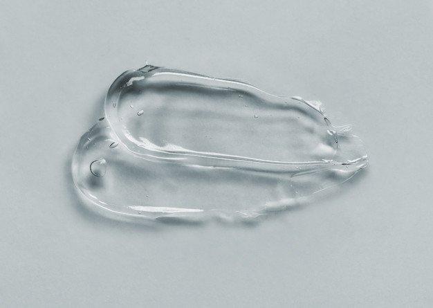 회색 크림 젤 투명 화장품 샘플 | 프리미엄 사진