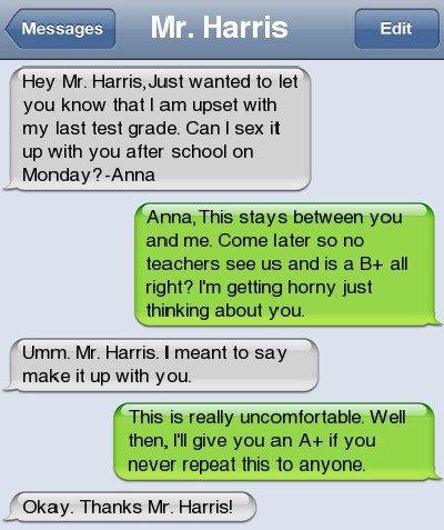 student-teacher texts