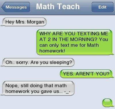 student teacher texts