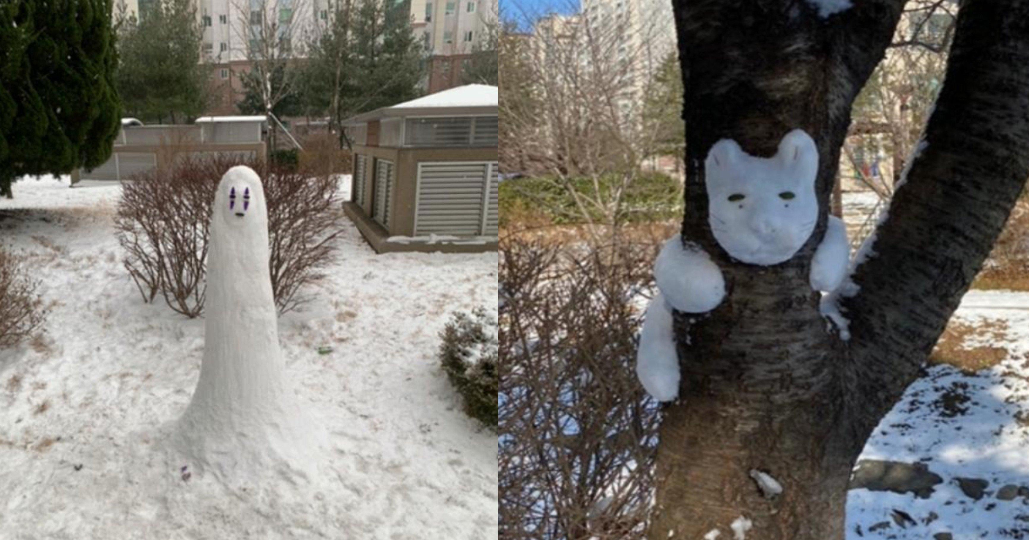 """4fc5bbb6 497b 4fc4 a817 590215fc65a5.jpeg?resize=1200,630 - """"눈사람 장인이 나타났다""""… 네티즌들 사이에서에서 난리 난 어느 아파트에 있는 눈사람 마을의 정체.jpg"""