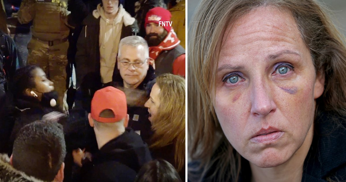 aggga.jpg?resize=412,232 - MAGA Mum Who Was Punched By Cop At Violent DC Rally Loses Job Of 15 Years