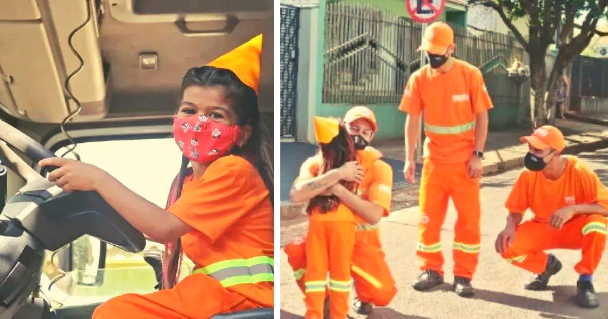 articulosportadas 1 4.png?resize=1200,630 - Niña De 6 Años Celebró Su Cumpleaños Con Los Barrenderos De La Ciudad