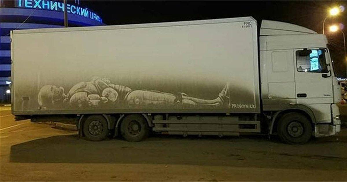 camion sale.png?resize=1200,630 - Un artiste créé des œuvres d'art incroyables et éphémères sur des camions sales