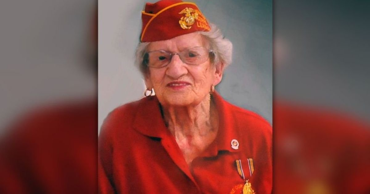 "courtesy of beth kluttz via ap.jpg?resize=1200,630 - Oldest US Marine Veteran Dorothy ""Dot"" Cole Dies Aged 107"