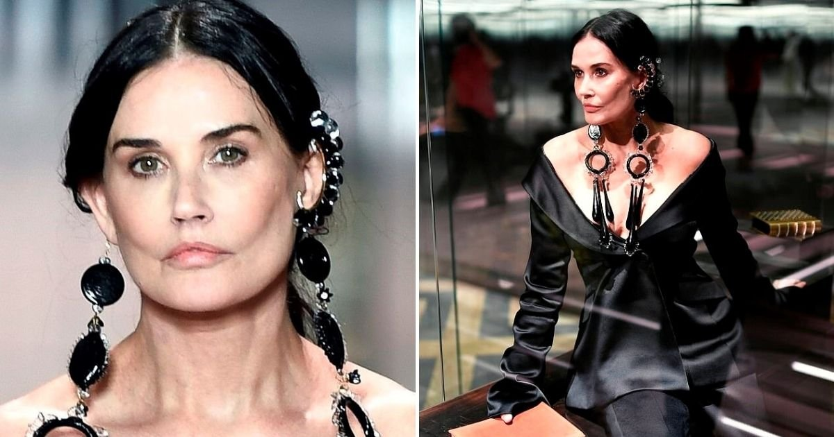 demi6.jpg?resize=1200,630 - Demi Moore Sparks Plastic Surgery Rumors With Her New Look On The Fendi Runway At Haute Couture Fashion Week