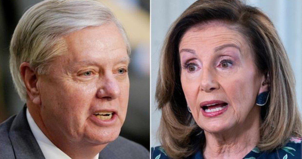 e18486e185aee1848ce185a6 2020 10 12t014402 116 3.jpg?resize=412,232 - Lindsey Graham Blames House Speaker Nancy Pelosi For The Capitol Riot