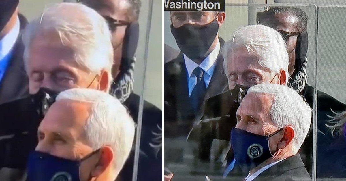 errttt.jpg?resize=1200,630 - Cameras Spot Former President Bill Clinton Falling Asleep At Joe Biden's Inauguration