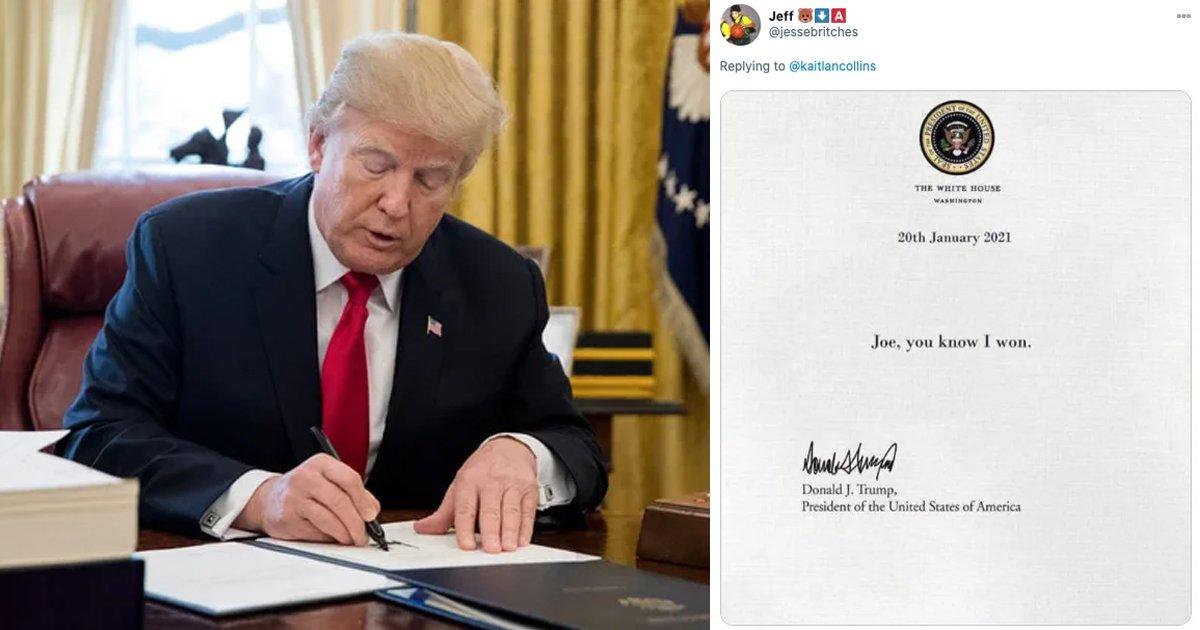 fdggg.jpg?resize=412,232 - Donald Trump's 'Private Note' For President Joe Biden Triggers Hilarious Memes