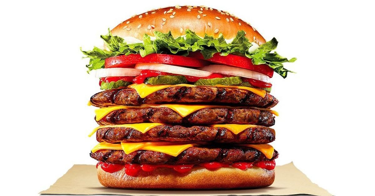 "foxyjuc4mngyfe6up4ej3gyyi4 e1611255734877.jpg?resize=1200,630 - Burger King lance son plus gros ""Whopper"" avec 4, voire 5 steaks"