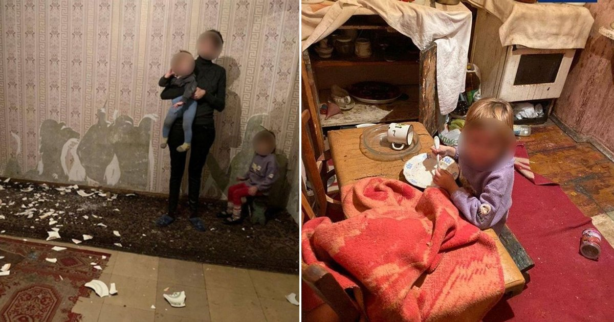 gshhsss.jpg?resize=412,232 - Young Kids Eat Styrofoam To Stay Alive As Alcoholic Mum Abandons Them In Flat
