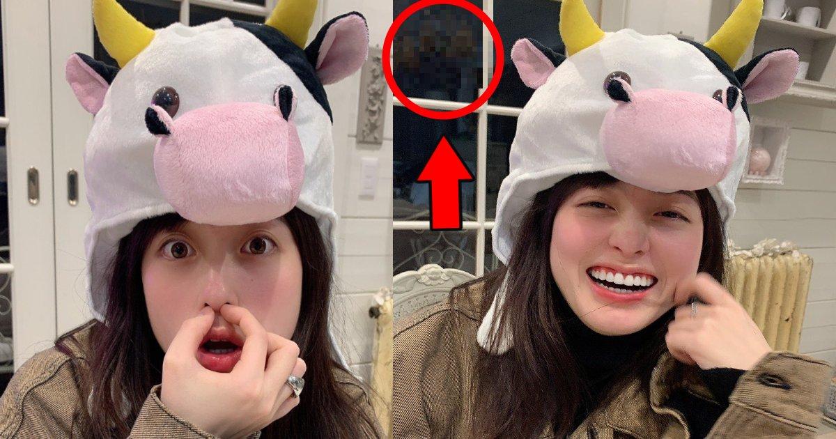 kanna.png?resize=1200,630 - 橋本環奈が元旦早々牛の被り物の写真も背景に良からぬものが写っていると話題に「普段こういうのを着用してるのか…」