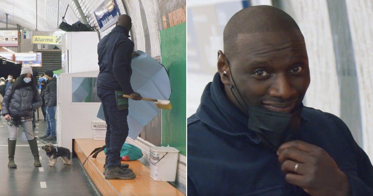 """lupin omar sy metro paris.png?resize=412,232 - Incognito, Omar Sy a placardé une affiche de """"Lupin"""" dans le métro parisien !"""