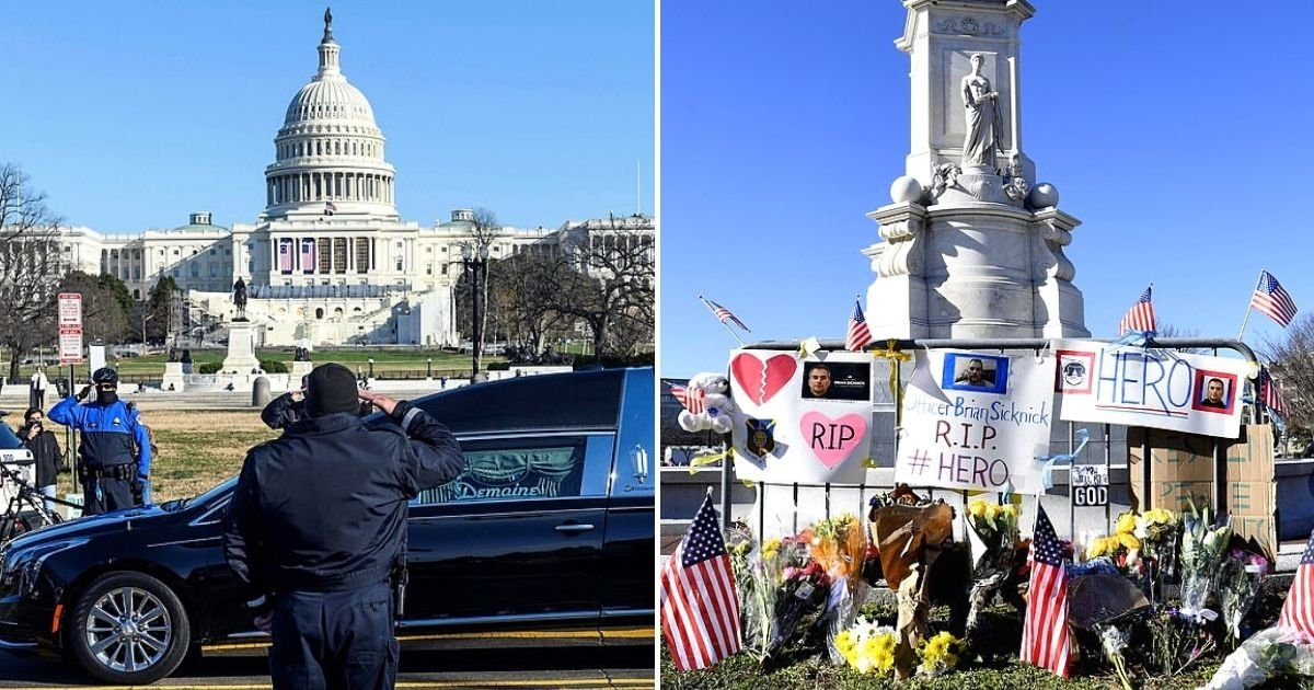 officer6.jpg?resize=1200,630 - Police Officers Lined The Streets To Honor Fallen Comrade Who Was Killed During Riots In U.S. Capitol