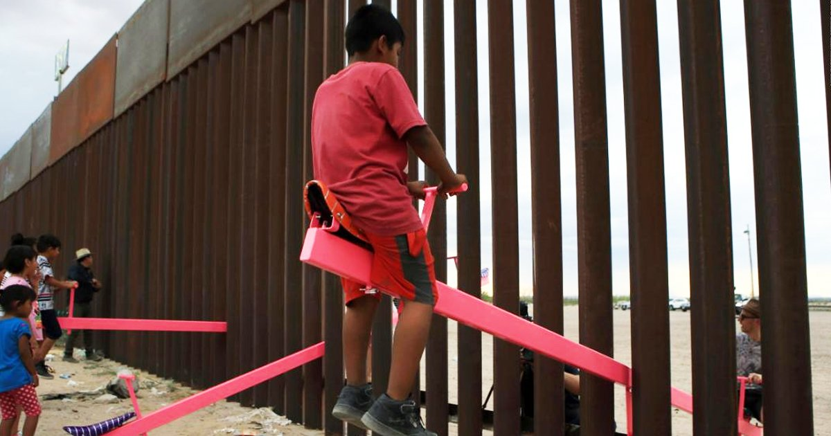 rrerer.jpg?resize=412,232 - Kids Seesaw Installation At US-Mexico Border Wins Beazley's 'Design Of The Year'